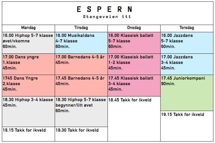psdance timeplan Espern 2014
